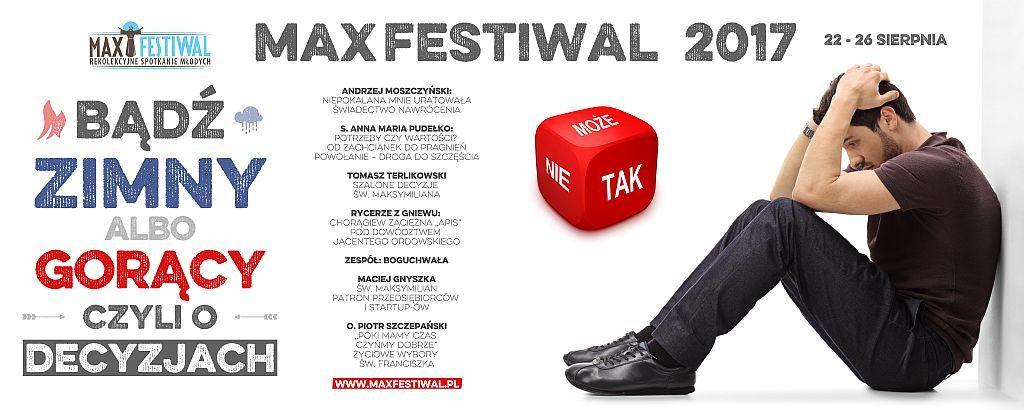 Max Festiwal w Niepokalanowie 22 – 26 sierpnia 2017 r.