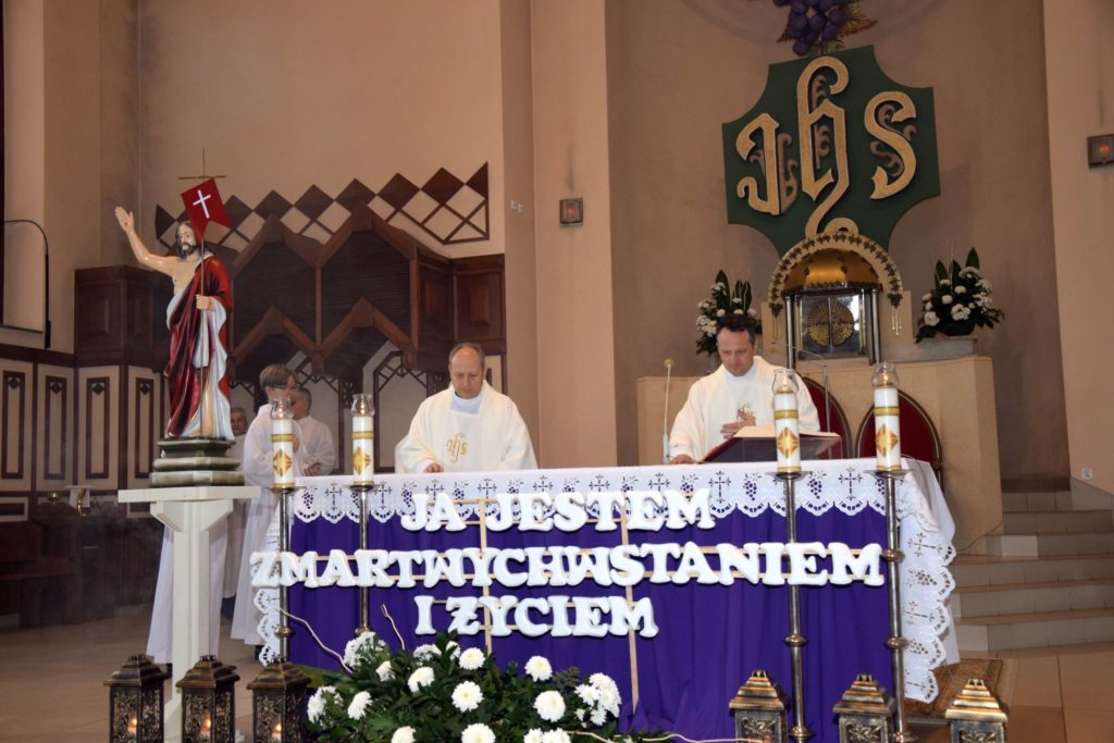 Imieninowa Msza św. w intencji: o. Janusza, proboszcza parafii i br. Andrzeja, organisty