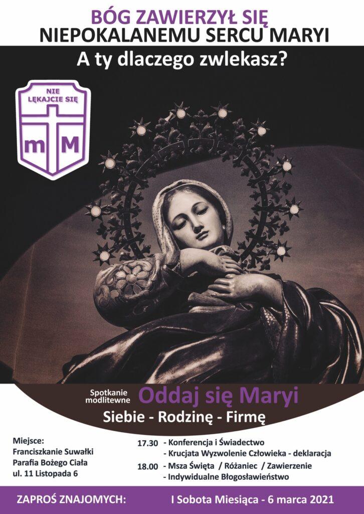 SPOTKANIE MODLITEWNE – ODDAJ SIE MARYI